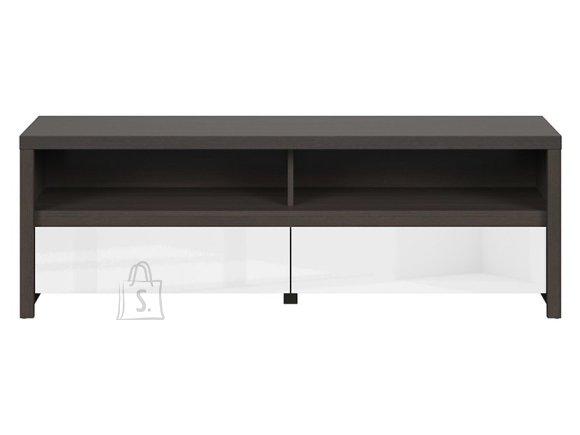 Kaspian tv cabinet wenge/white gloss
