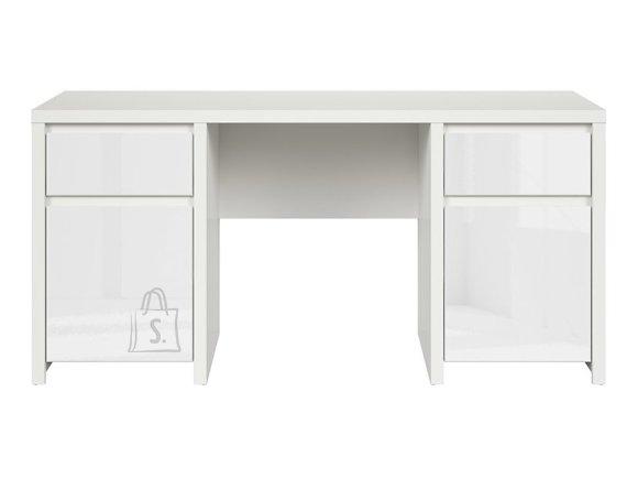Kaspian desk white/white gloss