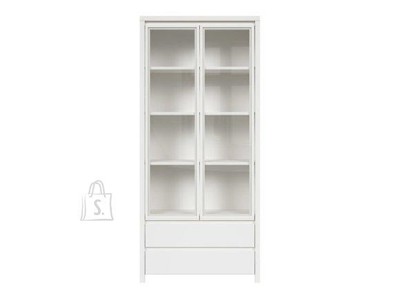 Kaspian glass cabinet white/white matt