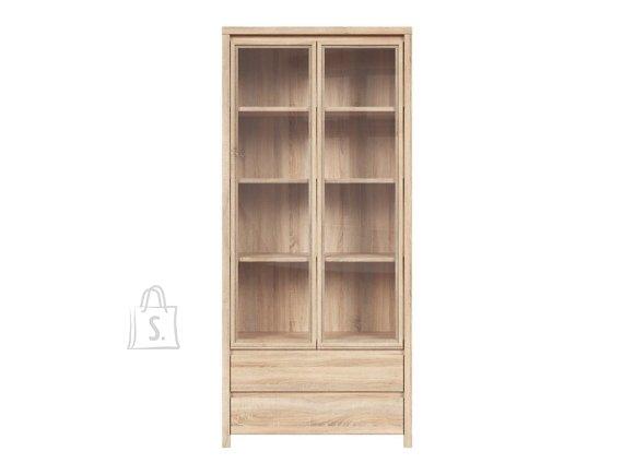 Kaspian glass cabinet Sonoma oak