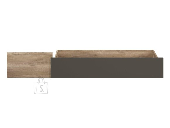Malcolm bed drawer 120 canyon monument oak/wolfram grey