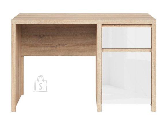 Kaspian desk sonoma oak/white gloss