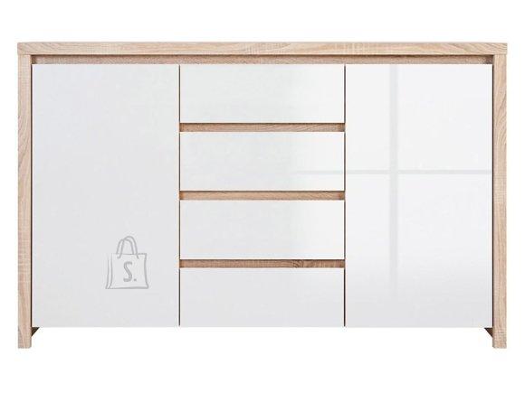 Kaspian drawer sonoma oak/white gloss