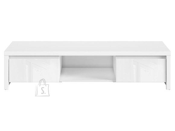 Kaspian tv cabinet white/white gloss