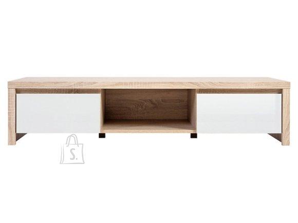 Kaspian tv cabinet sonoma oak/white gloss