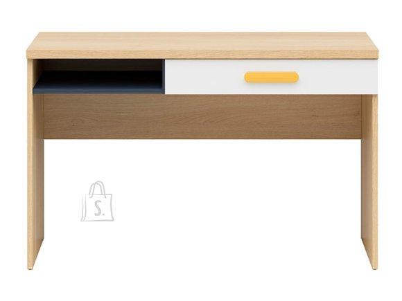 Wesker desk oak polish/uni garnet/white gloss