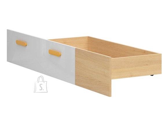 Wesker bed drawer 90 oak polish/white gloss