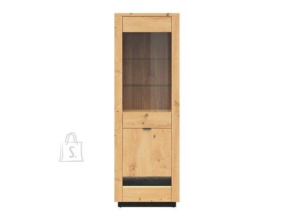 Ostia glass cabinet artisan oak/black oak