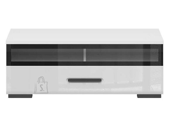 Assen TV stand white/white gloss