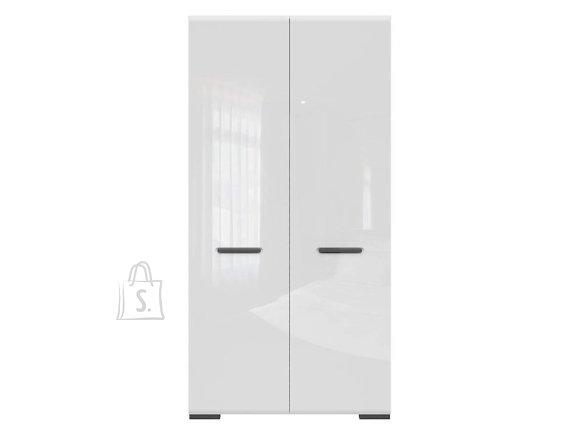 Assen wardrobe white/white gloss
