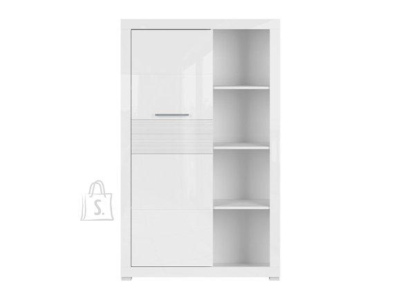 Flames bookshelf white gloss/white high gloss