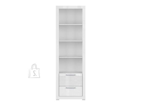 Flames bookshelf white gloss