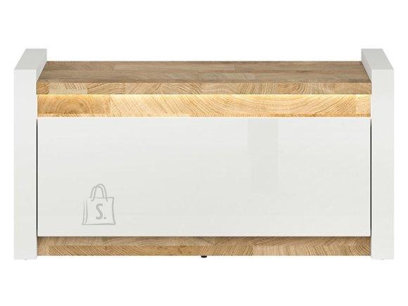 Alameda shoe cabinet white gloss/westminster oak/white gloss