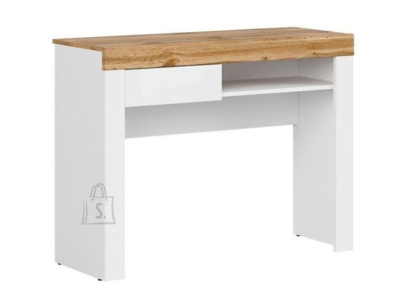 Holten console white/oak wotan/white gloss