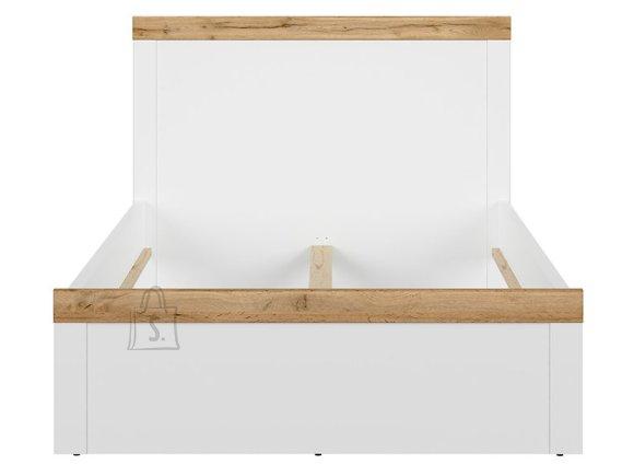 Holten bed 120x200 white/oak wotan