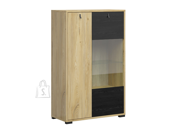 Rodes glass-door cabinet belarus ash/black oak