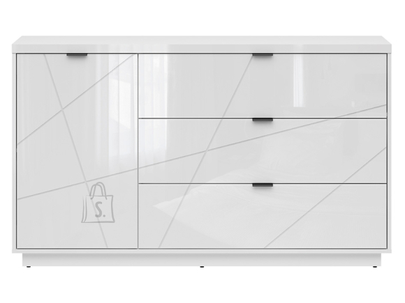 Forn chest of drawers white gloss/white high gloss
