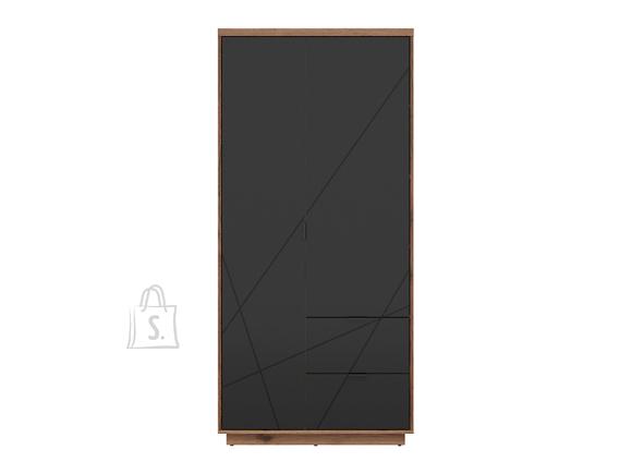 Forn wardrobe oak delano/black mat