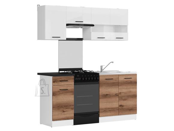 Köögikomplekt Junona Line 170 tume delano tamm/valge kõrgläige