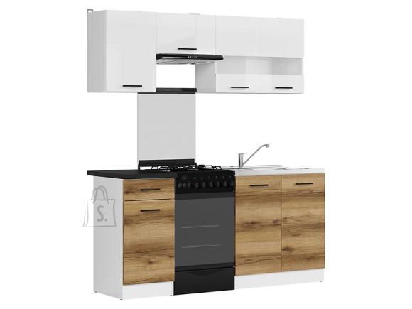 Köögikomplekt Junona Line 170 hele delano tamm/valge kõrgläige