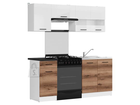 Köögikomplekt Junona Line 180 tume delano tamm/valge kõrgläige