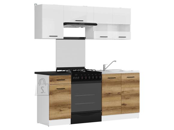 Köögikomplekt Junona Line 180 hele delano tamm/valge kõrgläige