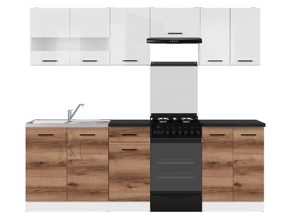 Köögikomplekt Junona Line 230 hele delano tamm/valge kõrgläige