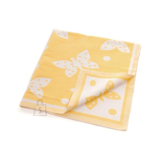 Milana Baikatekk 100x110 (mõõt +-5%) (kollane liblikas)