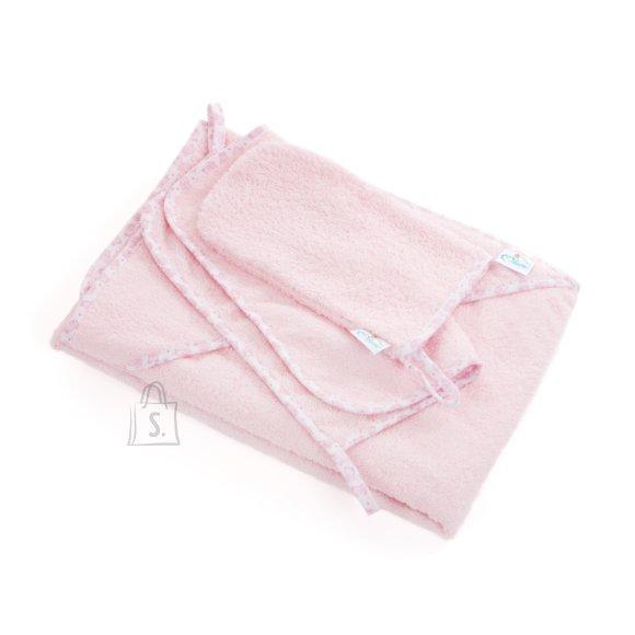 Milana Vannilina kapuutsiga 80x110, pesemiskinnas, rätik 30x30 (roosa)