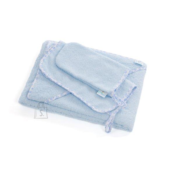 Milana Vannilina kapuutsiga 80x110, pesemiskinnas, rätik 30x30 (sinine)