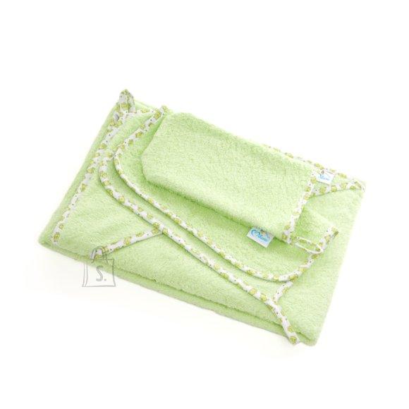 Milana Vannilina kapuutsiga 80x110, pesemiskinnas, rätik 30x30 (roheline)