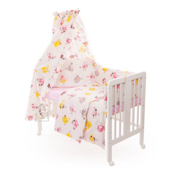 Milana Vooditarvete komplekt lapsele 6-osaline voodile 60x120 cm (Birds)