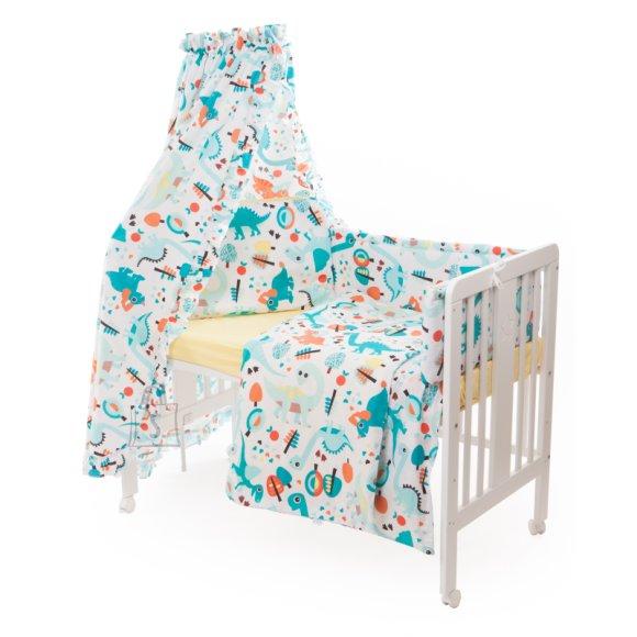Milana Vooditarvete komplekt lapsele 6-osaline voodile 60x120 cm (Dino)