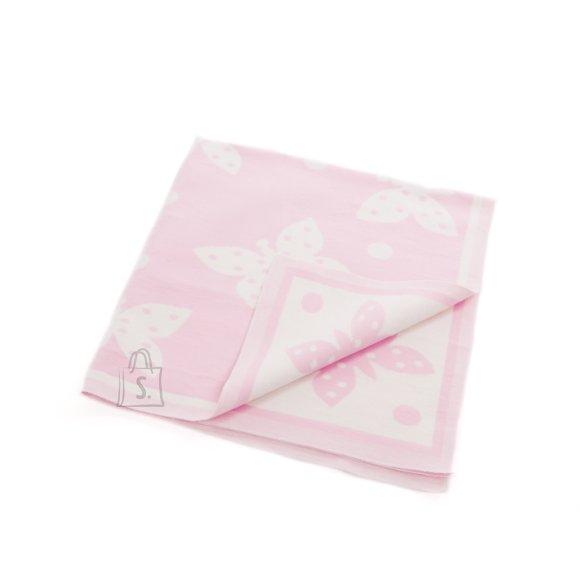 Milana Baikatekk 100x110 (mõõt +-5%) (roosa liblikas)