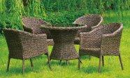Aiamööbel Dominica laud ja 4 tooli