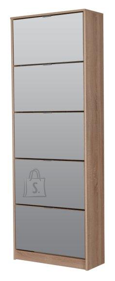 Jalatsikapp Calzado Lux 5-uksega sonoma tamm - peegel