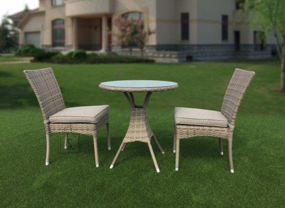 Aiamööbel Gallup laud + 2 tooli