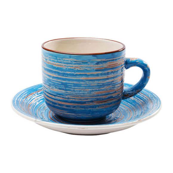 Kohvitass Swirl Blue