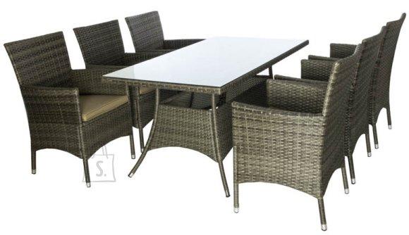 Aiamööblikomplekt Cayman laud ja 6 tooli