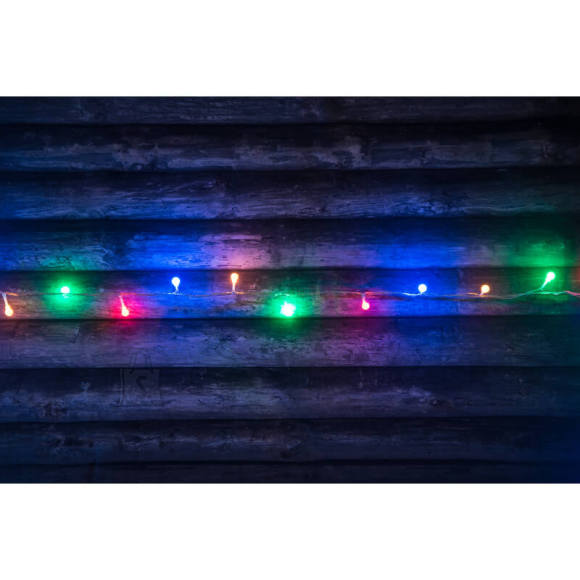 Valguskett 120 LED -tulega värviline