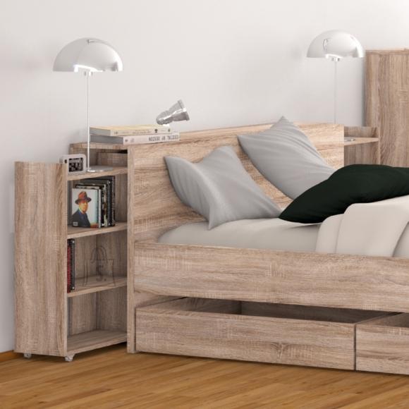 Riiulid voodipeatsile Naia 140 cm