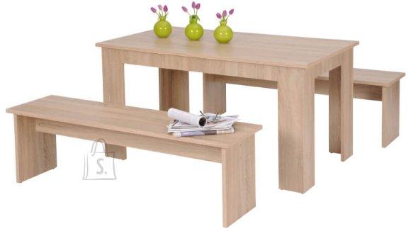 Söögilauakomplekt München laud + 2 pinki 140 cm