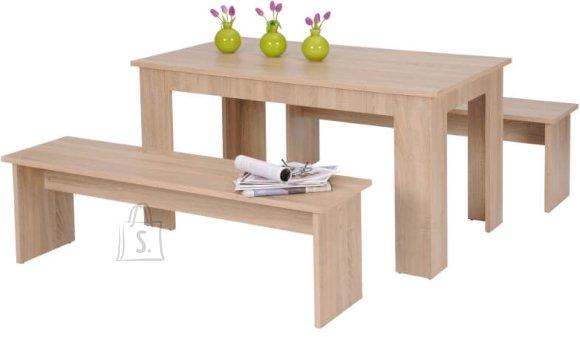 Söögilauakomplekt München laud + 2 pinki 160 cm