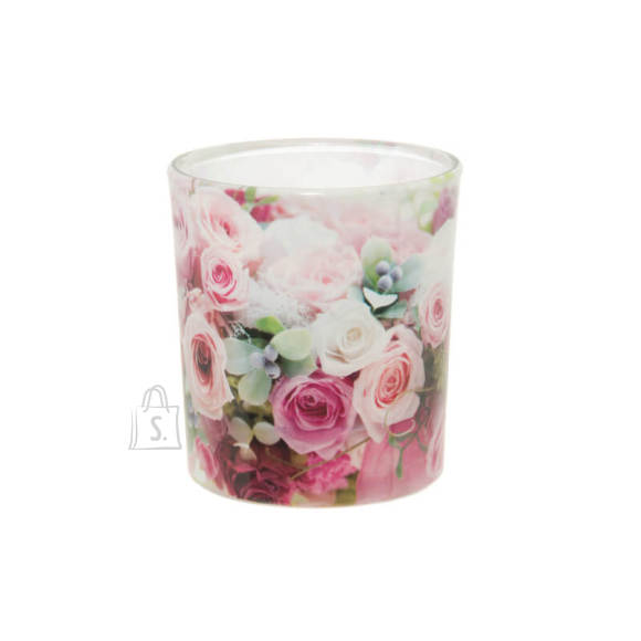 Lõhnaküünal klaasis Roosid