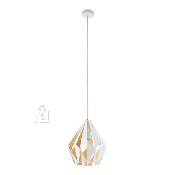 Rippvalgusti Eglo Carlton valge/kuld