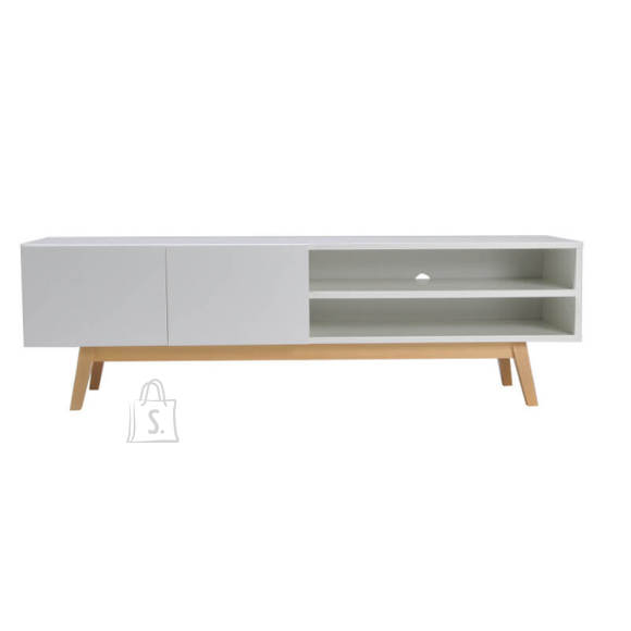 Tv-alus Home valge/tamm 160 cm