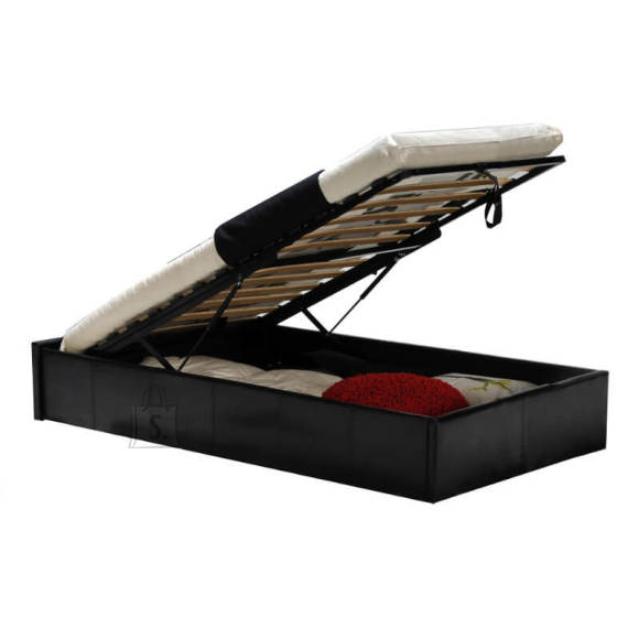 Pesukastiga voodi Torino 90x190 cm must