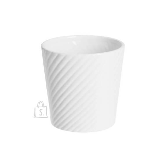 Lillepott White Diagonal H13 cm
