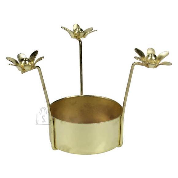 Küünlahoidja Flower Gold