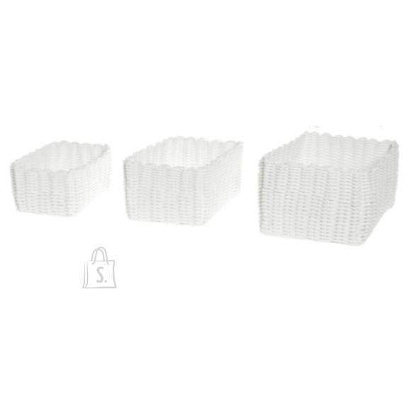 Korvide komplekt Plastic 3tk valge